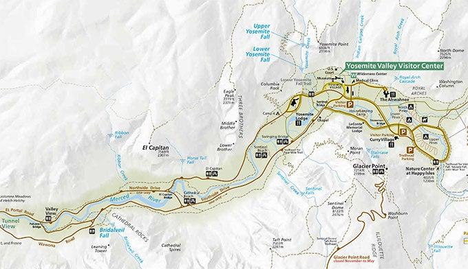 Cartina Yosemite National Park.Download The Official Yosemite Park Map Pdf
